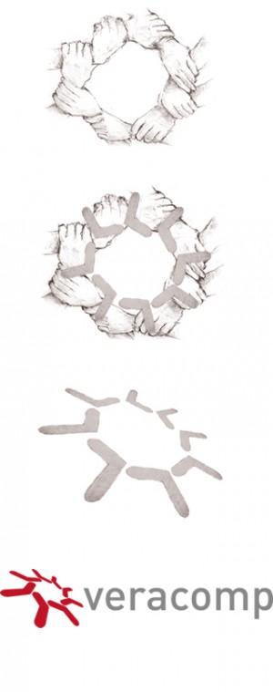Ewolucja logo Veracomp